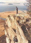 Rock Climbing Photo: P.Ross.E.Ray. Little Chamonix 1954