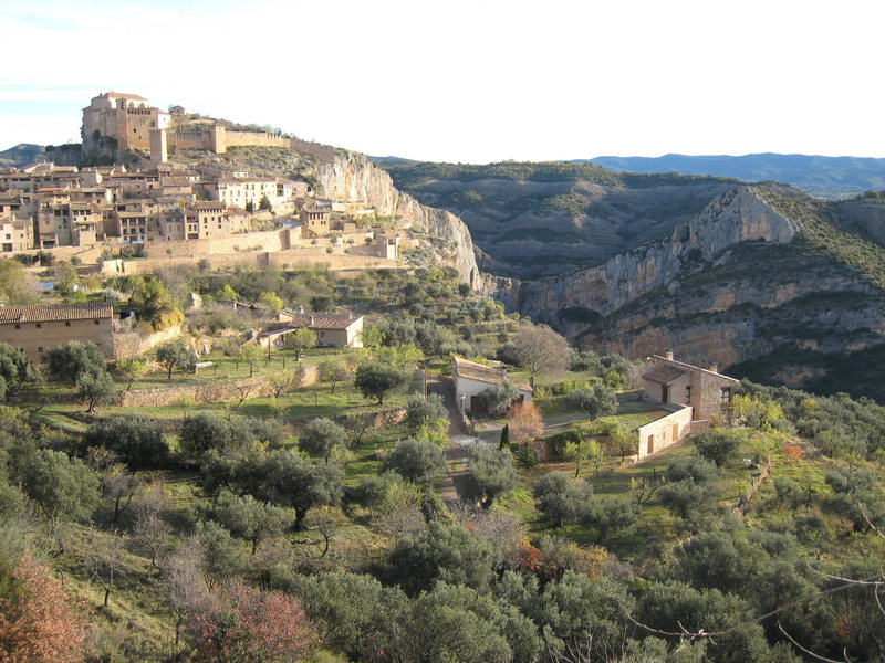 The medieval village of Alquezar is a popular tourist attraction, but it also offers excellent limestone cragging.