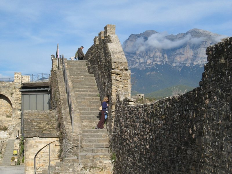 The quaint village of Ainsa is a great rest day destination in the foothills of the Pyrenees.