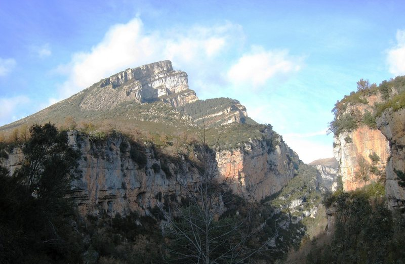 Some of the cliffs of Ordesa & Mt Perdido National Park in northern Aragon.