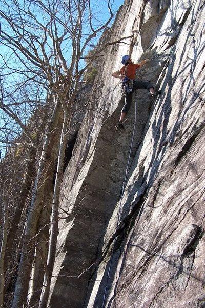 Rock Climbing Photo: Jason low on Pitch 1.