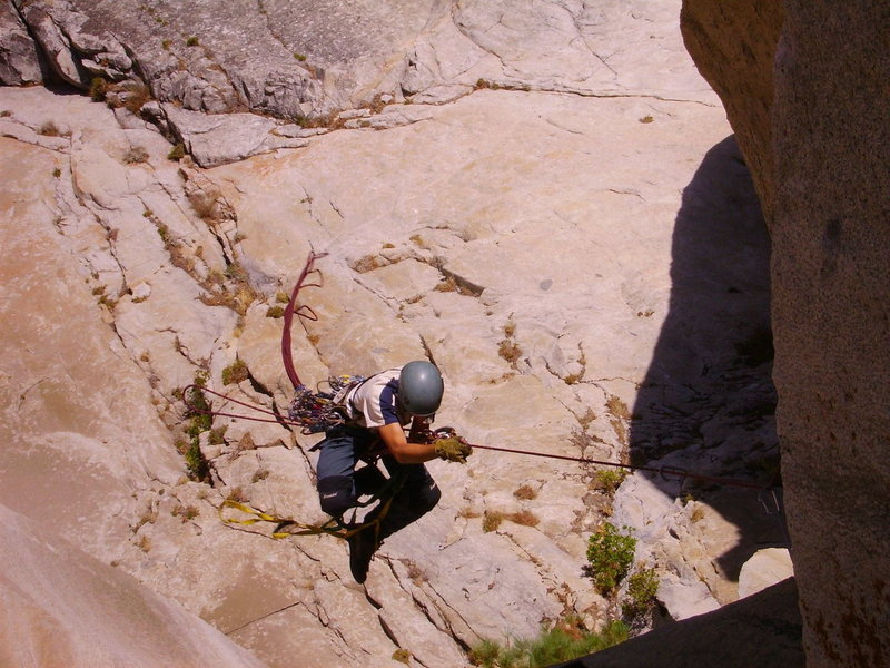 Rock Climbing Photo: Cleaning Pitch 11.