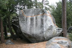 Rock Climbing Photo: AH Boulder West Face Topo