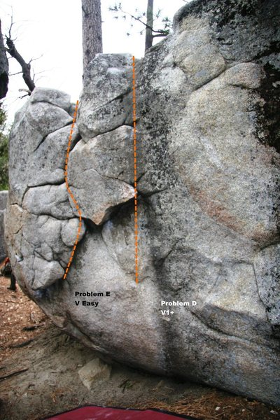 Rock Climbing Photo: AH Boulder North East Face Topo