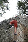 Rock Climbing Photo: Moving through the mantle