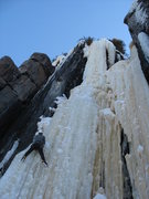 Rock Climbing Photo: Dave Rone starting up Vertically Oriented.  Gettin...