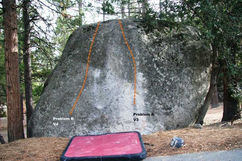 West face of Road Rock Topo