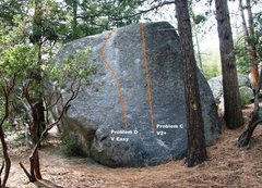 Rock Climbing Photo: North Face of Road Rock Topo