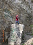 Rock Climbing Photo: Aiden showing off his moves below The Start Of Som...