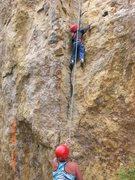 Rock Climbing Photo: My 5 year old son Aiden climbing Jam Jelly