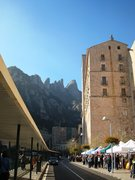 Rock Climbing Photo: The bustling Monastery, with the Gorros formations...