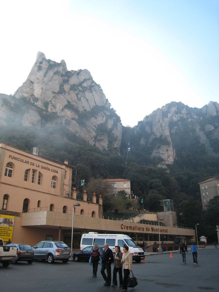 Rock Climbing Photo: This photo shows the St Joan Funicular (in the cen...