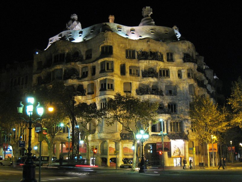 "Gaudi's ""La Padrera"", Barcelona's second-most-famous structure, is a must-see."