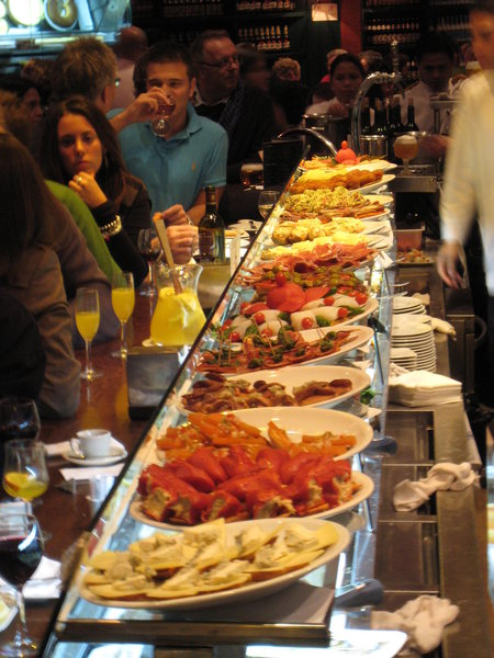 Be sure to sample some of the delicious Tapas, a Spanish tradition.
