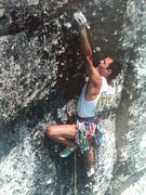 Rock Climbing Photo: Scott Frye on late 80's ascent. GREG EPPERSON PHOT...