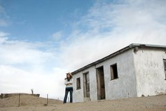 Rock Climbing Photo: A storm moving in at an old ranch in the mojave de...