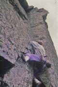 Rock Climbing Photo: Andy doing it ....