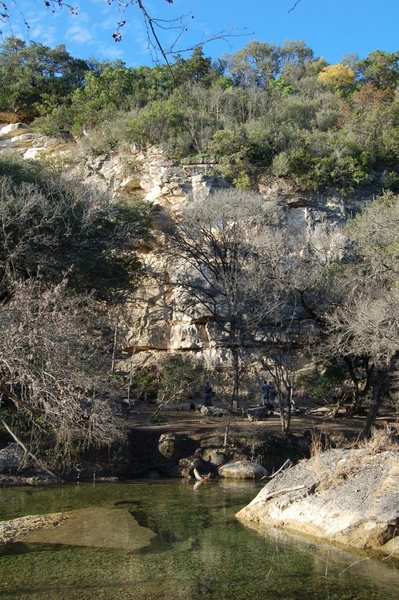 New Wall viewed from across Barton Creek