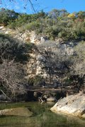 Rock Climbing Photo: New Wall viewed from across Barton Creek