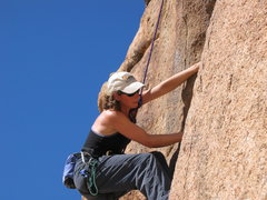 Rock Climbing Photo: 10a crack on Short Wall, Indian Cove, Joshua Tree ...