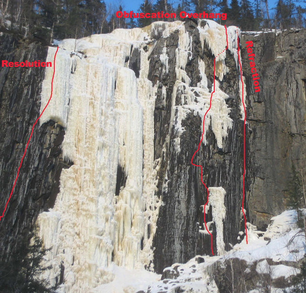 Rock Climbing Photo: Reflection Wall Mixed Routes.  Reticulation lies t...