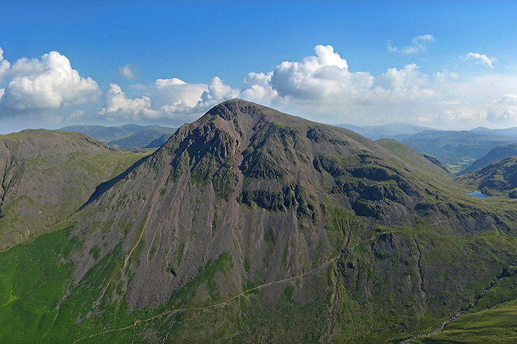 Great Gable from Lingmell ,showing the Napes and the path from Wasdale Over Styhead pass to Borrowdale.Styhead Tarn can been seen on the far right of the photo. Photo by Eric Ostell. <br> <br> <br> <br> <br> <br> <br> <br> <br> <br> <br> <br> <br> <br> View of the Ennerdale side of Great Gable from Kirk Fell<br> <br> <br>