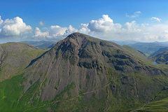 Rock Climbing Photo:  Great Gable from Lingmell ,showing the Napes and ...