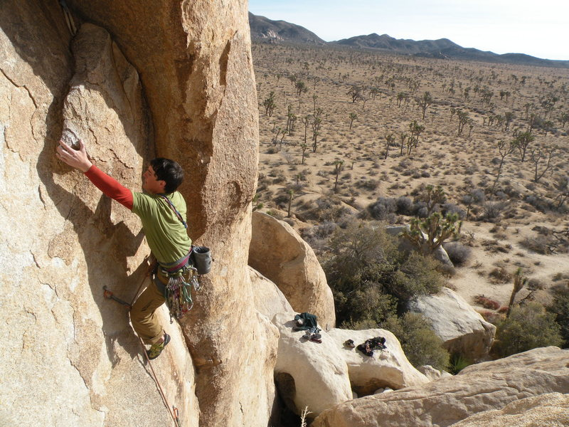 Rock Climbing Photo: The Face moves getting into the Hidden Arch Photo ...