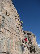 Rock Climbing Photo: 2nd pitch of Future Artifacts 5.10a, 2 pitches. Ed...