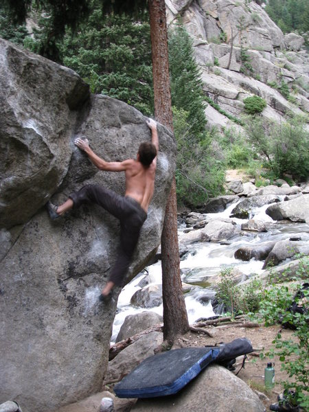 Rock Climbing Photo: Misha Z. toppin' 'er out.