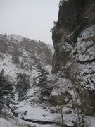 Rock Climbing Photo: 12/23/09; borderline alpine conditions for new rou...