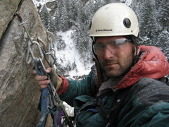 Rock Climbing Photo: el Macho Borracho topping out on his latest projec...