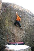 Rock Climbing Photo: Feeling High on Black Stuff, V1