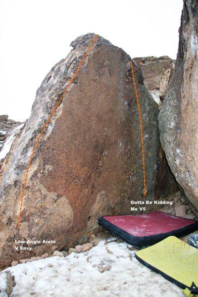Rock Climbing Photo: Hauck A Loogie Left Topo