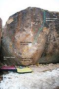 Rock Climbing Photo: Hauck a Loogie Center Topo
