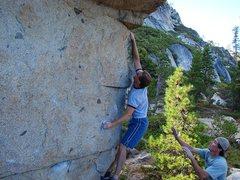 Rock Climbing Photo: Bump.  Aug 06.  Super fun problem.