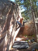 Rock Climbing Photo: The Inquiry, Metaphysical Boulders, Eldorado.