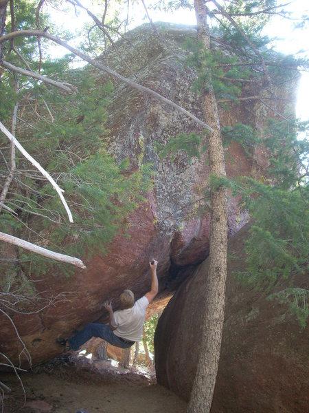 Rock Climbing Photo: Project, Metaphysicals, Eldo.