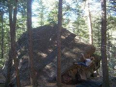Rock Climbing Photo: Sei, Whale Boulder, Eldo.