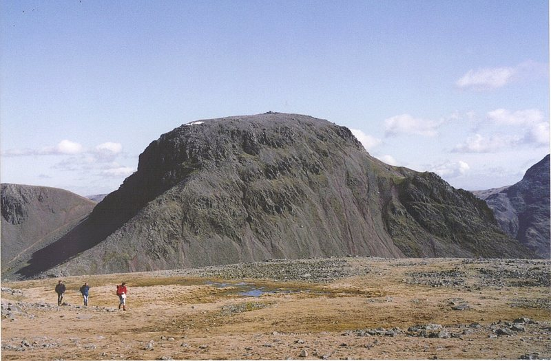 Great Gable from Kirk Fell,showing the Ennerdale Valley side of the mountain.