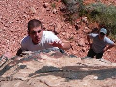 Rock Climbing Photo: Bouldering at red rock. 1st negative i have ever d...
