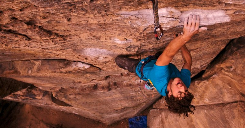 Pushing through the pump on 'Gluttony' 12a. Purgatort, RRG.