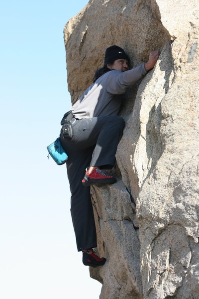 Rock Climbing Photo: Al on the boulders on the road at the north end. 1...