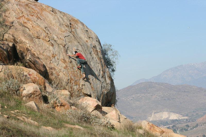 Rock Climbing Photo: Eric on Joe Browns Helmet. 12-27-09