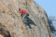 Rock Climbing Photo: Eric on Joe Browns Helmet. 12-27-09