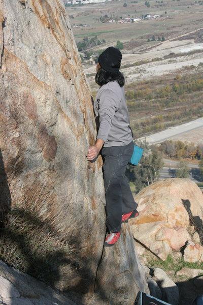 Rock Climbing Photo: Al on Joe Browns Helmet. 12-27-09