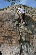 Rock Climbing Photo: Agina finishing the year by getting The Bee Wall C...