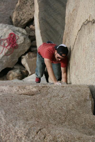 Eric on the Jam Crack. 12-27-09