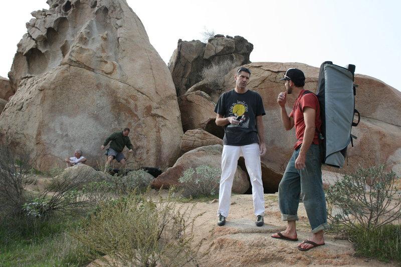 Rock Climbing Photo: Ran into Bob Bolton by the Island. 12-27-09
