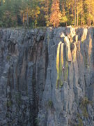 Rock Climbing Photo: Canary Cracks!  Climber on Birds of a Feather 5.9+